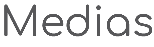 medias black and white logo